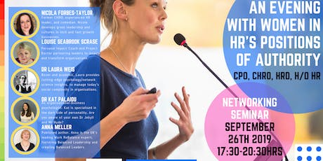 An Evening With Women in HR's Positions of Authority CHRO, CPO, HRD, H/o HR tickets