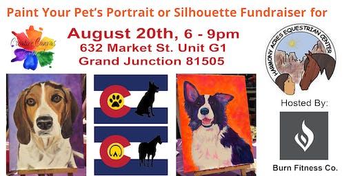 Paint Your Pet or CO Flag Pet Silhouette Fundraiser, Harmony Acres Equestrian Center