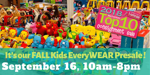 Kids EveryWEAR Consignment's $15 Shop before the Public FALL Presale