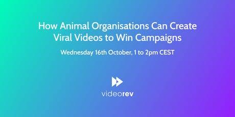 How Animal Organisations Can Create Viral Videos to Win Campaigns tickets