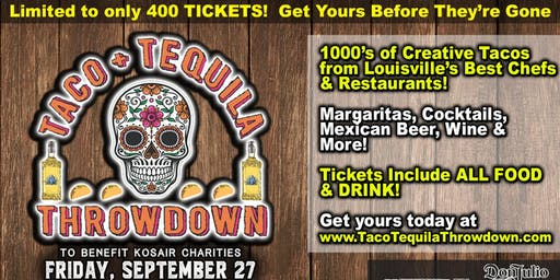 Taco + Tequila Throwdown to benefit Kosair Charities