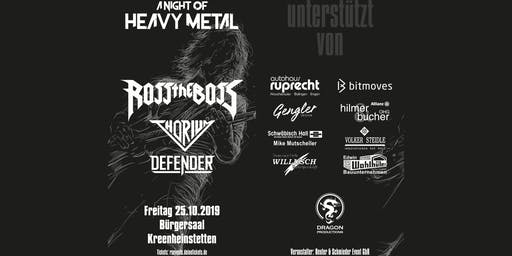 A Night of Heavy Metal 2019 - Headliner: Ross the Boss
