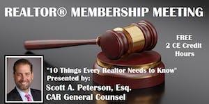 Membership Meeting - Oct 23