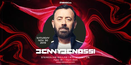 Benny Benassi - Stereo Live Dallas tickets