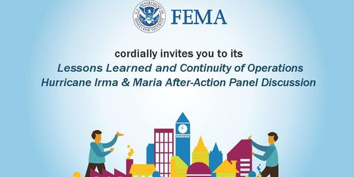 FEMA Lessons Learned and Continuity of Operations Workshop