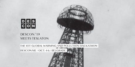 DESCON 5.0 Meets Teslaton - The IoT Global Warming and Pollution Hackathon biglietti