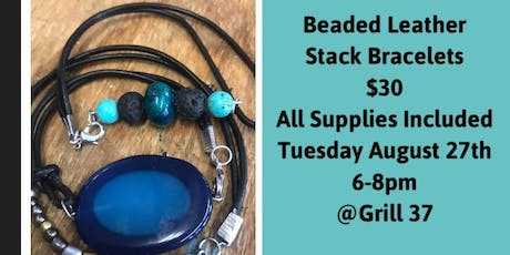 Beaded Leather Bracelet Stack  tickets
