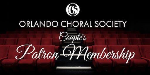2019 - 2020 Season - Couple's Patron Membership