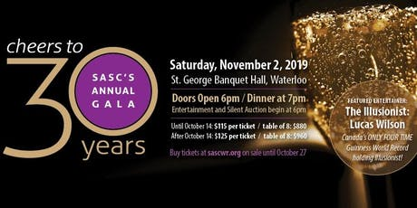 Cheers To 30 Years! SASC's Annual Gala tickets