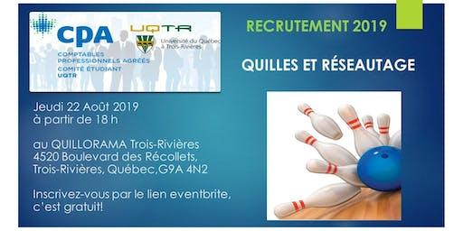 QUILLES et RESEAUTAGE - Recrutement 2019