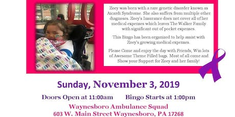 8th Annual Thirty-One Bingo Benefit for Zoey Walker tickets