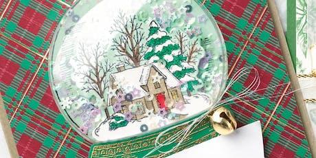 Snow Globe Shaker Card Class tickets