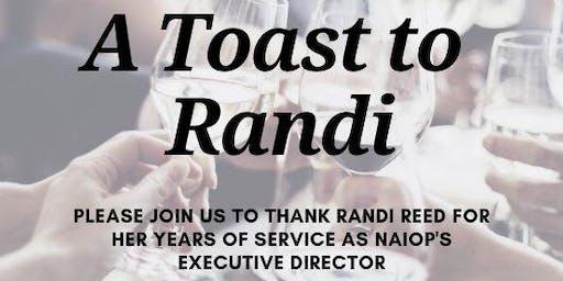 A Toast to Randi Reed