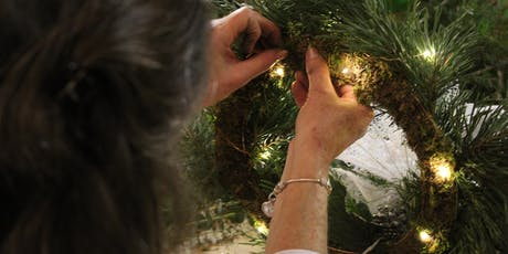 Wreath Making Class- Including light lunch and drinks tickets