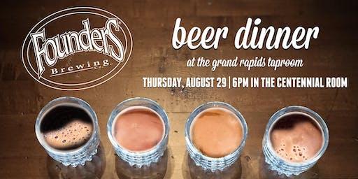 Founders Grand Rapids Beer Dinner: Americana