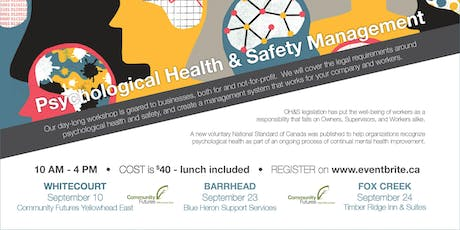 Psychological Health & Safety Management Workshop - Barrhead tickets