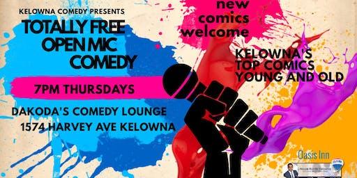 Totally Free Open Mic Comedy at Dakoda's