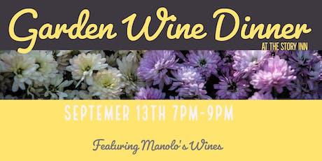 Garden Wine Dinner tickets