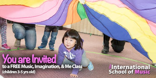 FREE TRIAL Wednesday, 8/21! Music, Imagination, & Me Class!