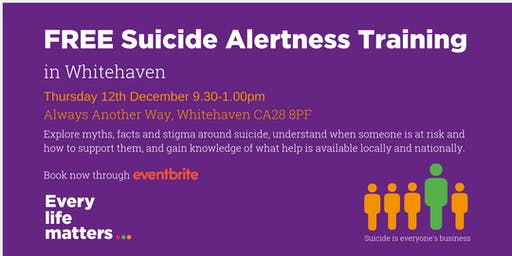 FREE Suicide Alertness Training - Whitehaven