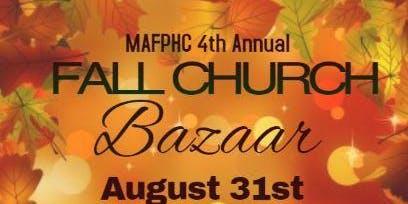 MAFPHC 4th Annual Fall Church Bazaar