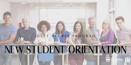 ADP New Student Orientation tickets