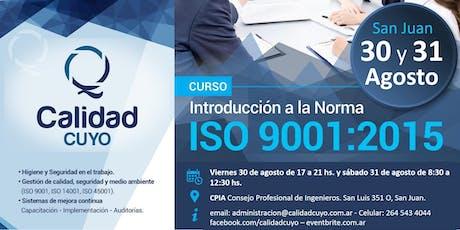 Introducción a la Norma ISO 9001:2015 entradas