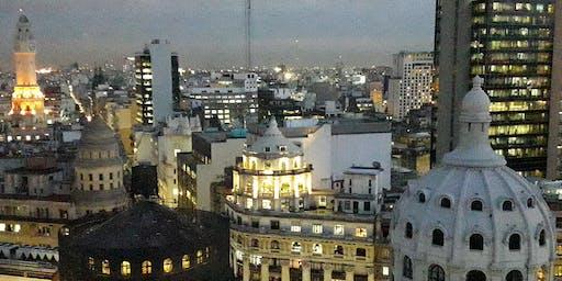 Ocaso en el Mirador Güemes y las mejores cúpulas de la City