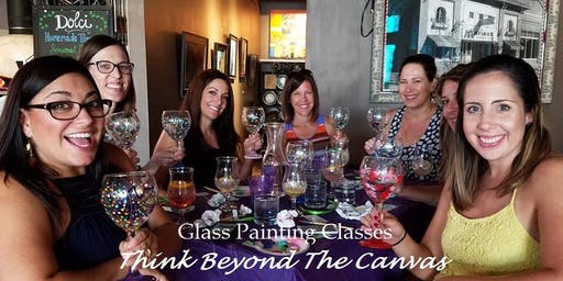 Wine Glass Painting Class at The Pitch Pizza and Pub 8/19 @ 6 pm.