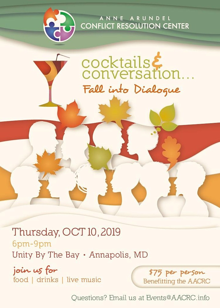 """26th Annual Celebration """"Cocktails and Conversation... Fall into Dialogue"""" image"""
