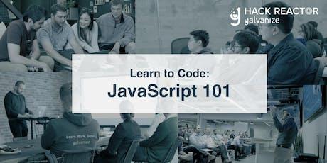 JavaScript 101: Javascript for Beginners tickets