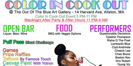 The 2nd Annual Color In Cook Out & Black-light After Party