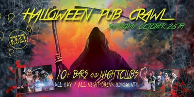 PACIFIC BEACH HALLOWEEN PUB CRAWL - Saturday, Oct 26th