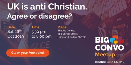 UK is anti Christian. Agree or disagree?