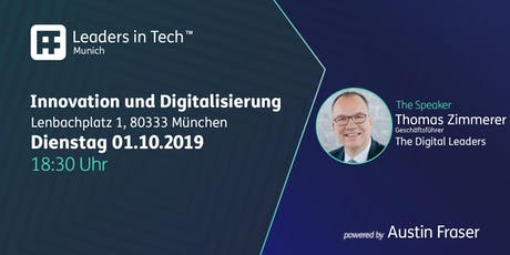 Leaders in Tech | Munich - Innovation und Digitalisierung Tickets