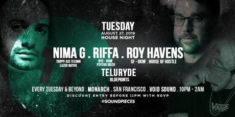 NIMA G . RIFFA . ROY HAVENS . TELURYDE — Soundpieces SF tickets