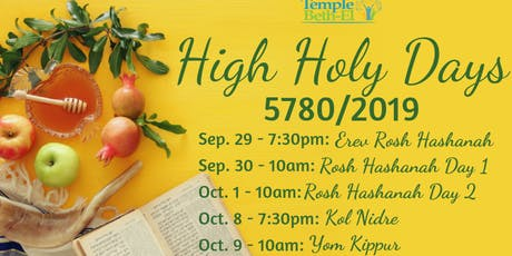 Temple Beth-El High Holy Days 5780/2019 tickets