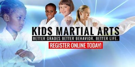 Back to School FREE Karate Beginner Kids Workshop Ages 5-12  tickets