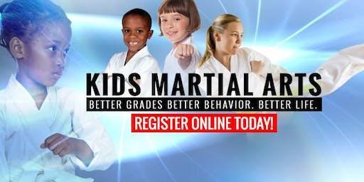 Back to School FREE Karate Beginner Kids Workshop Ages 5-12