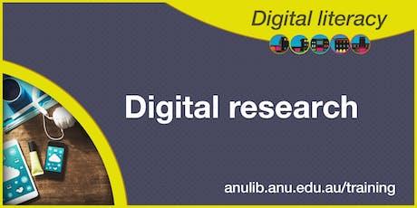 Digital research workshop tickets