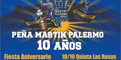 Fiesta Cena 10° Aniversario Peña Martin Palermo - Club Atlético Boca Juniors - ANTICIPADAS DISPONIBLES!