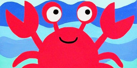 Crab Painting Watercolor  Workshop for Kids hosted by Expressive Brush Art Studio tickets