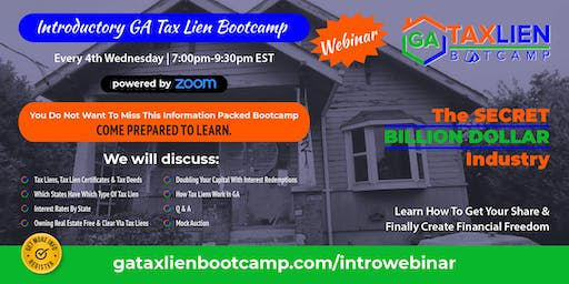 Introductory GA Tax Lien Bootcamp [LIVE WEBINAR]