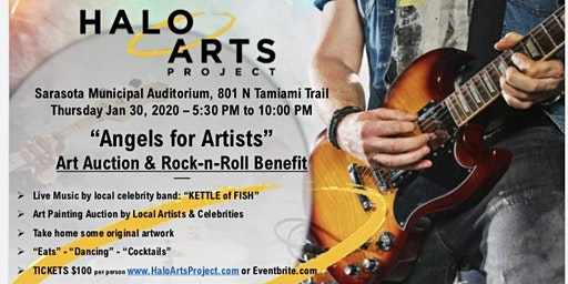 HALO ARTS PROJECT Angels for Artists:  Art Auction and Rock n' Roll Benefit