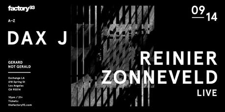 Dax J and Reinier Zonneveld Live tickets