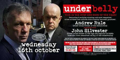Underbelly feat Andrew Rule & John Silvester LIVE at The Commercial Hotel tickets