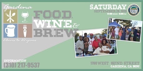 10th Annual Food, Wine, & Brew Festival tickets