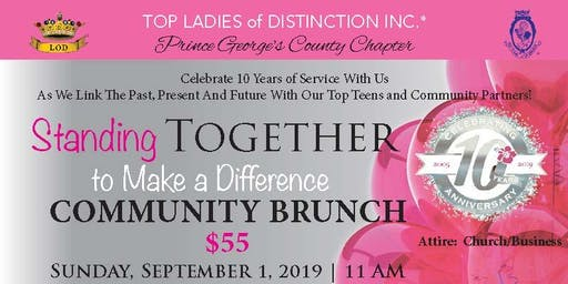 TLOD, Inc Prince George's County Chapter 10th Anniversary Community Brunch