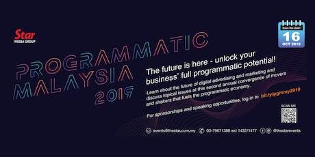 Programmatic Malaysia 2019 tickets