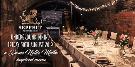 Underground Dining inspired by Dame Nellie Melba tickets